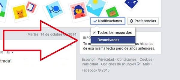 Un dia como hoy de Facebook