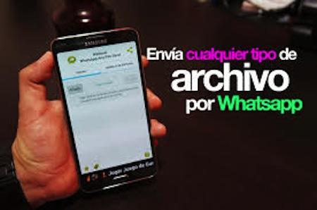 Ahora envio de archivos por WhatsApp